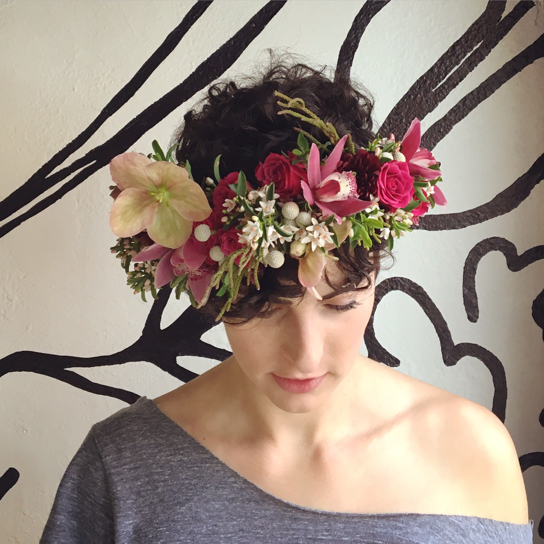 Make a floral crown tickets expo adventure festival portland or play with color texture and volume to create your unique crown you will learn how to wire wrap individual blooms and cluster greenery to create a seamless izmirmasajfo
