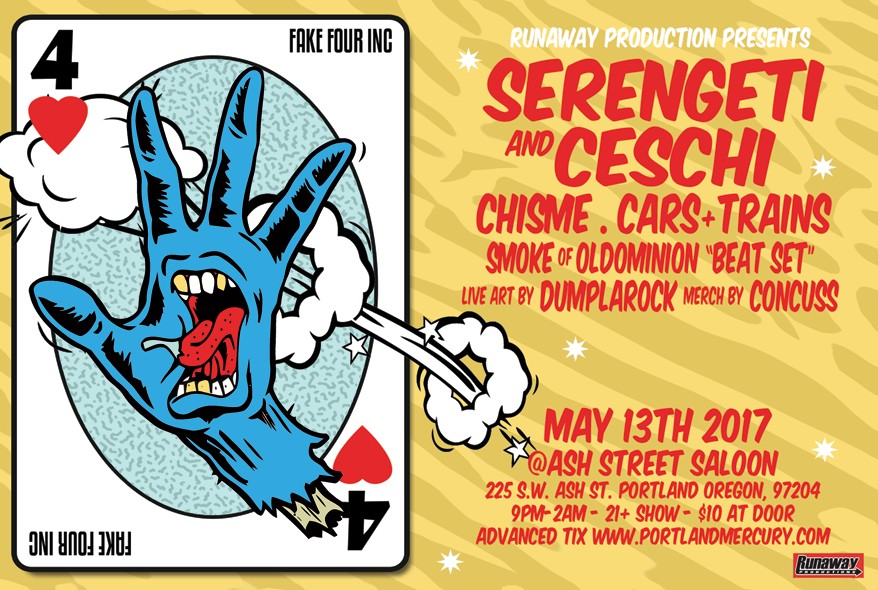 Serengeti Ceschi Ramos and Chisme live in PDX Tickets | Ash Street Saloon | Portland OR | Sat May 13 2017 at 9pm | Mercury Tickets  sc 1 st  Mercury Tickets & Serengeti Ceschi Ramos and Chisme live in PDX Tickets | Ash Street ...