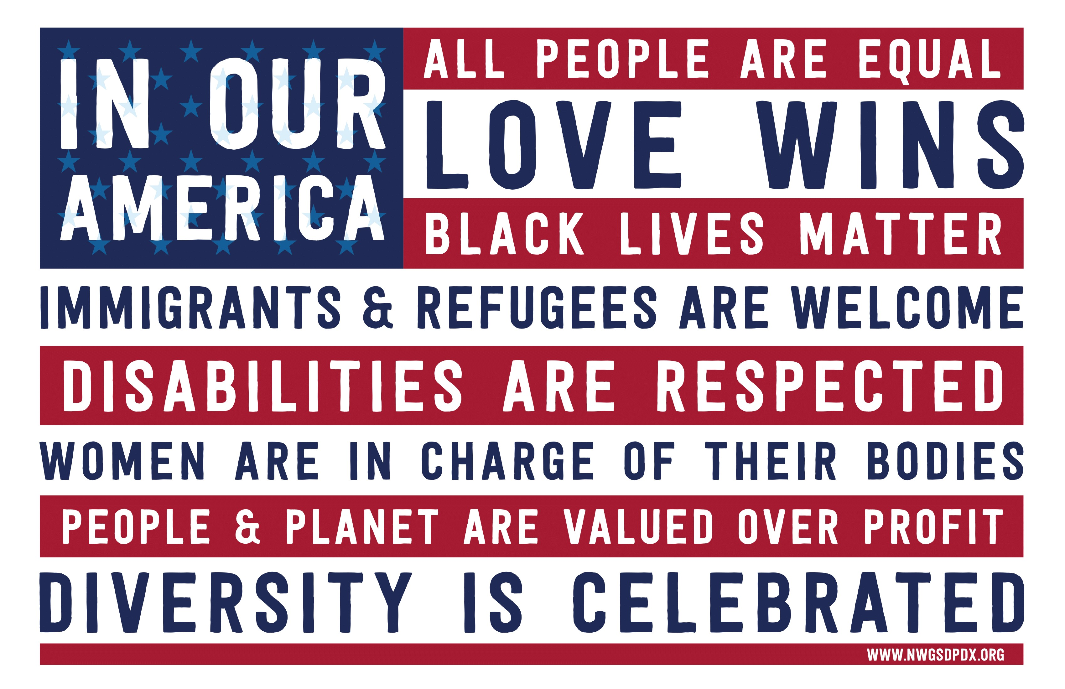 in our america yard sign - HD1848×1212