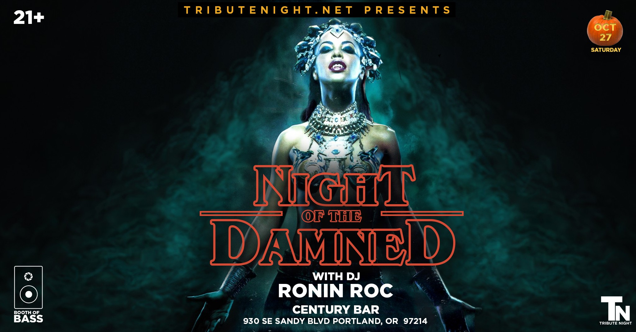 Tribute Night and Ante Up PDX Present Night of the Damned